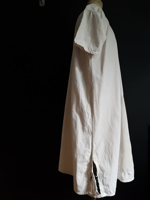 French antique patched nightdress. Boro repair - image 10