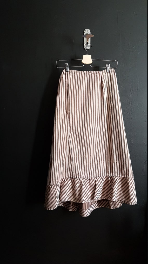 Antique French vintage striped petticoat or unders