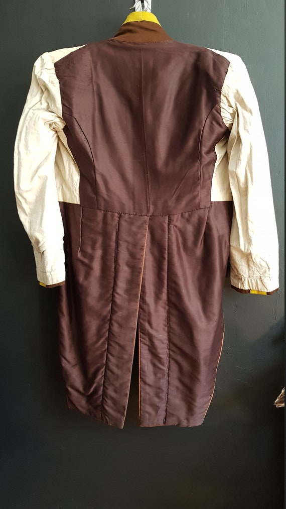 Vintage French Theatre costume valet footman tailcoat
