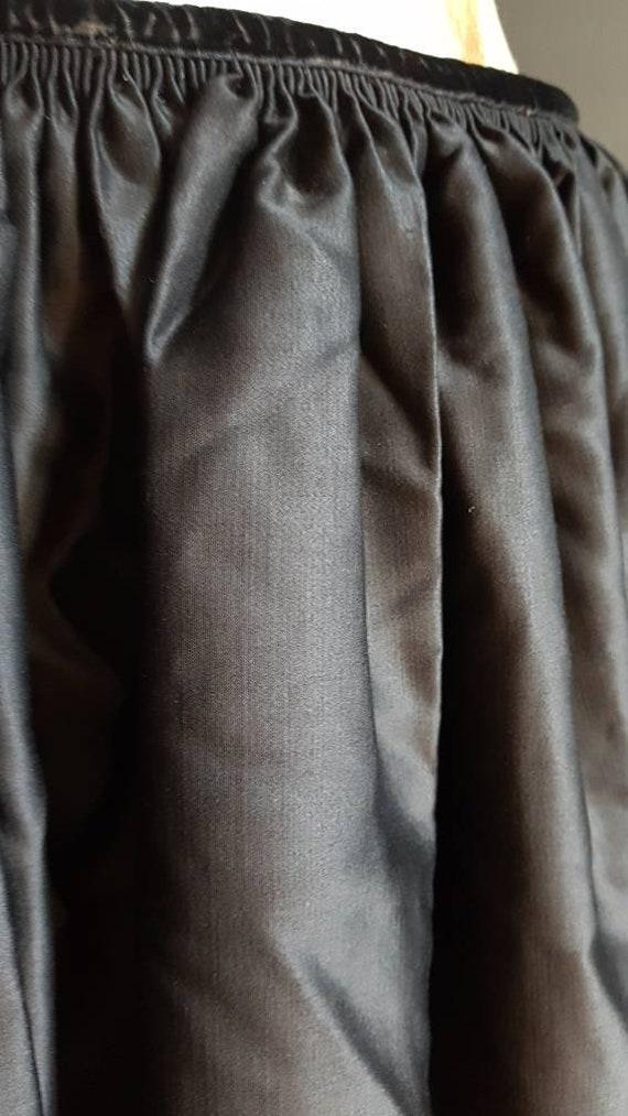 Vintage French black skirt Breton traditional cos… - image 3
