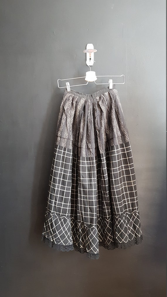 Antique French Petticoat Dress / chore Skirt