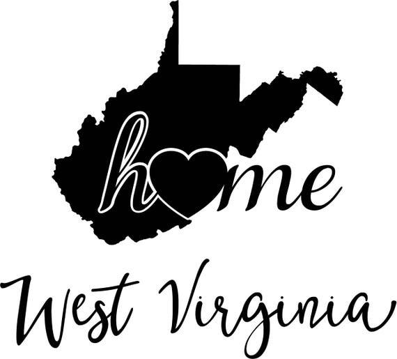 Wondrous West Virginia State Map Digital File Svg Png Jpg Eps Vector Graphic Clip Art Wv Outline West Virginia Home State State Geography Outline Home Interior And Landscaping Ymoonbapapsignezvosmurscom