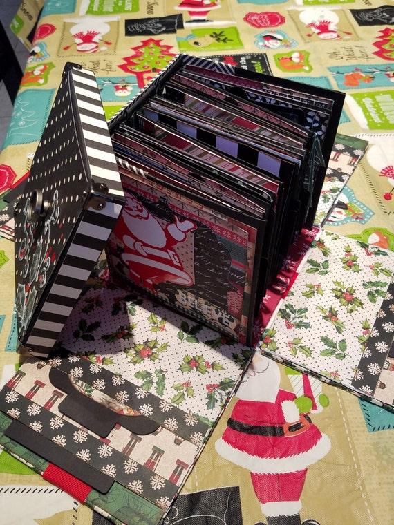 Exploding Merry Christmas Box Album Scrapbook Bundle Svg