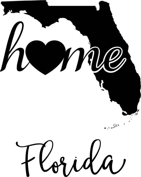 Eps Print File JPG PNG Florida Home Svg Digital Cutting File DXF