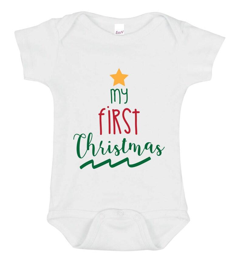 buy online 18f50 3e3fc Mein erstes Weihnachten Svg, Dxf, Eps - entzückende Urlaub Kunst, schönen  Urlaub Geschenk für Ihr Baby - Body, Baby, Kleidung, T-shirt