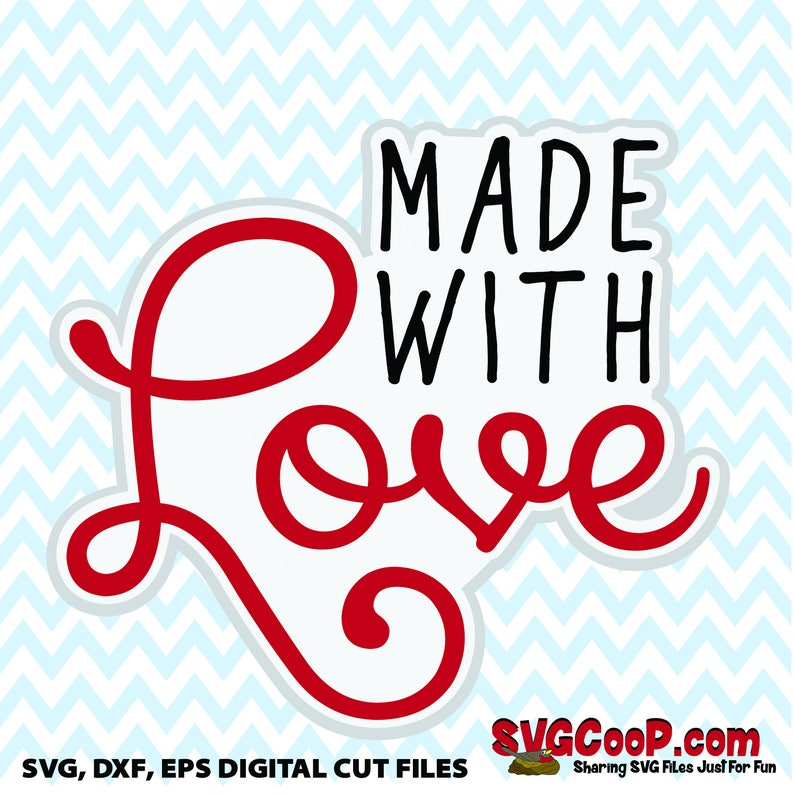 Download Made with Love SVG dxf and eps file Cute for Valentine   Etsy