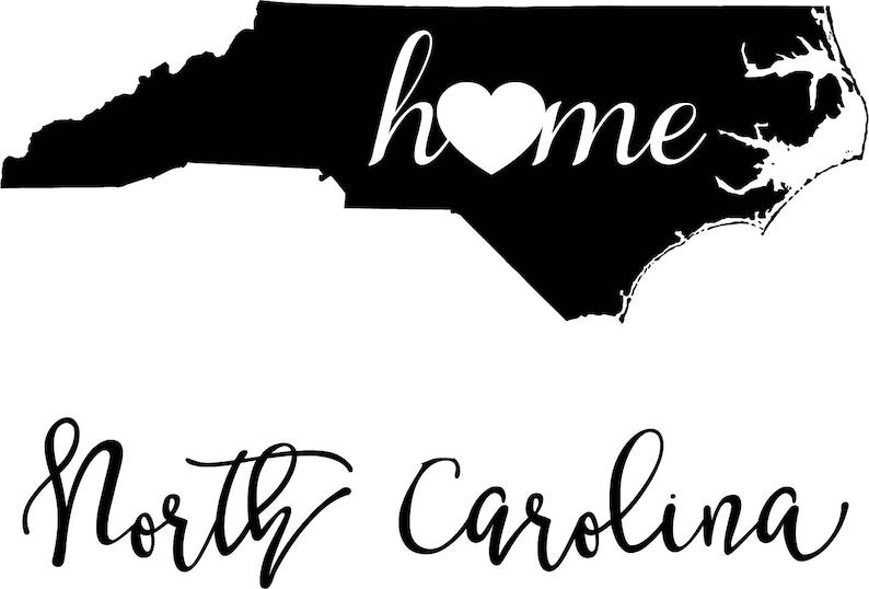 North Carolina State Map digital file: SVG PNG Jpg eps Vector | Etsy