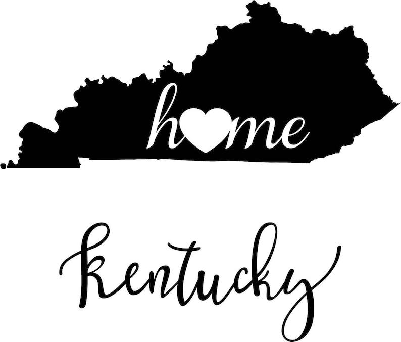 Kentucky State Map digital file: SVG PNG Jpg eps Vector | Etsy