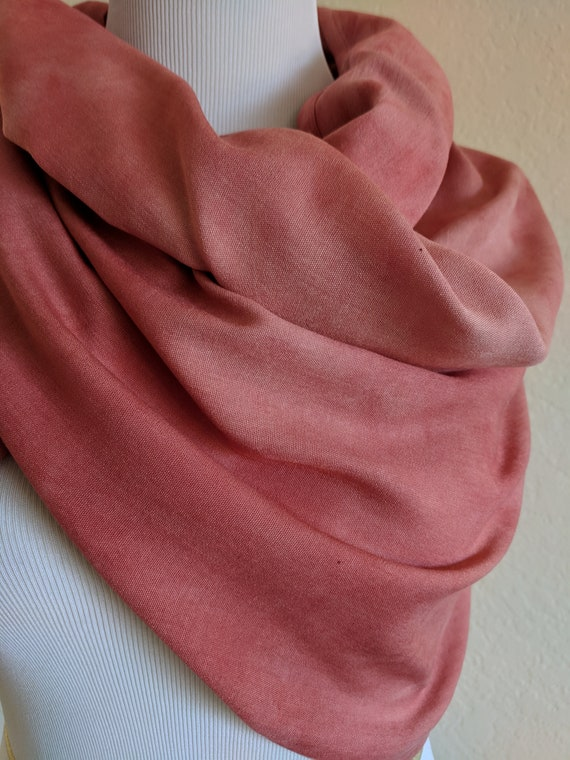 Beautiful Quality Embroidered Floral In Berry Circle Loop Infinity Scarf Snood