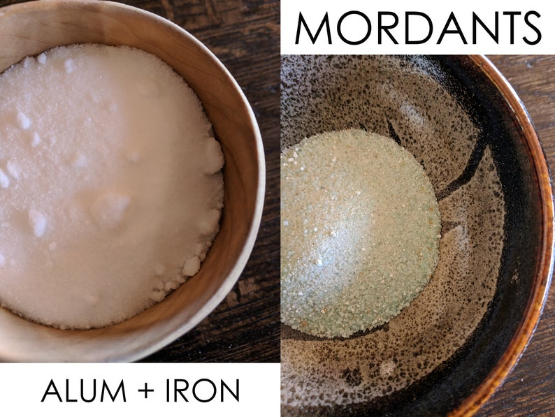 Choose a Mordant Fixative ALUM 50g or IRON 25g  Natural 1 ALUM + 1 IRON