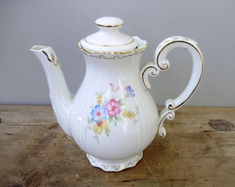 Antique Hungarian  Zsolnay porcelain teapot,stamped