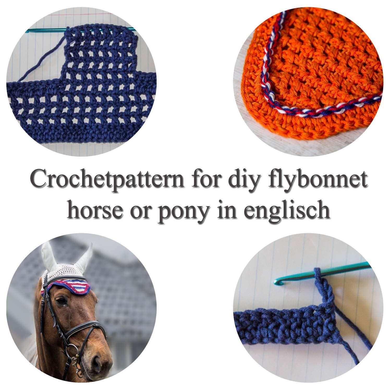 diy fly bonnet, tutorial for earbonnet, horse flybonnet, step by ...