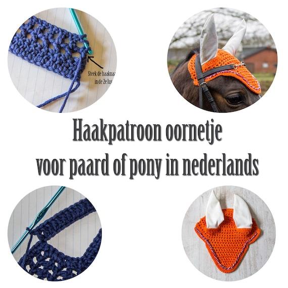 Nederlands Haakpatroon Oornetje Voor Paard Diy Vliegenmuts Etsy