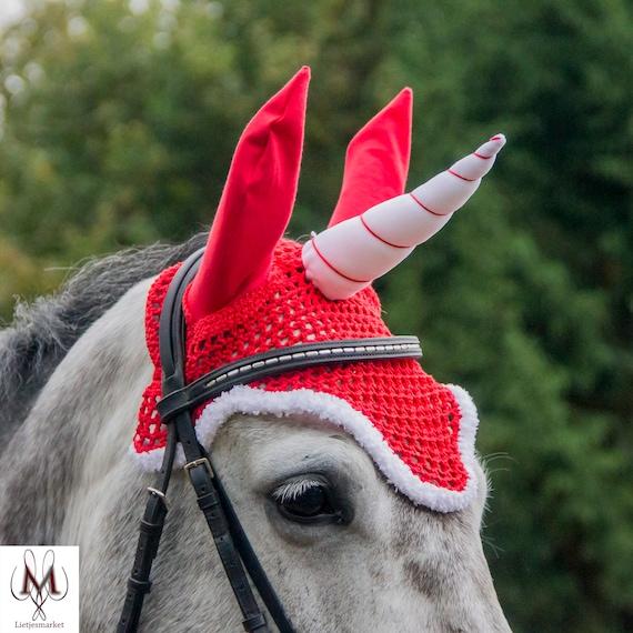 Full Santa Claus Horse Ears Gallop Shop Christmas Fly Mask