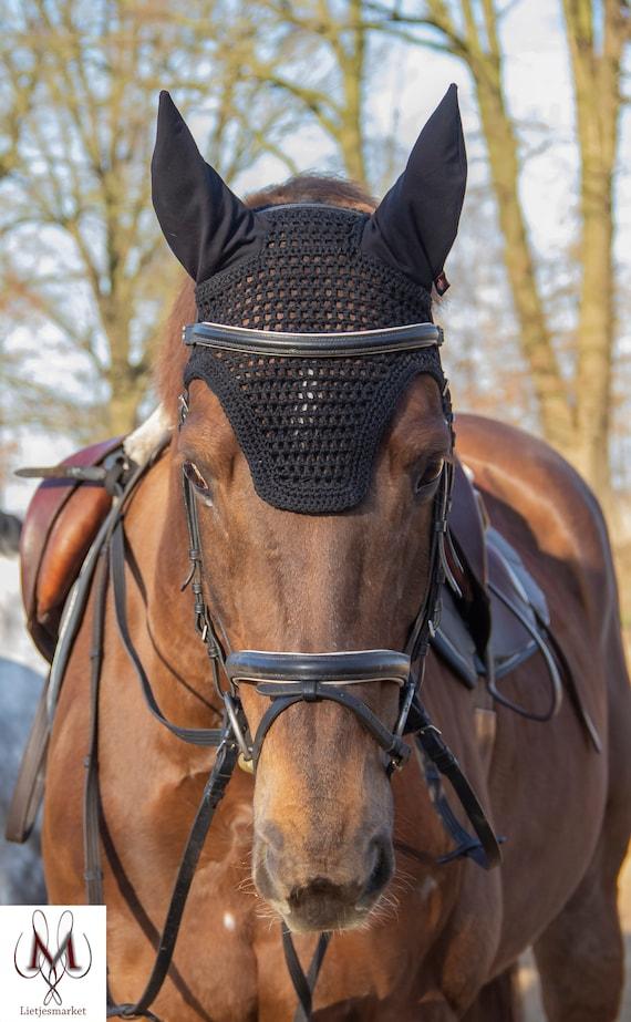 Kentucky Classic Ears Fly Veil Bonnet Navy Blue Full Size BN