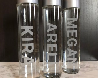 9a5656e64e Etched VOSS Glass Water Bottles - Sealed Still or Sparkling - Customized  for gifts, corporate events, gift baskets, parties, & weddings