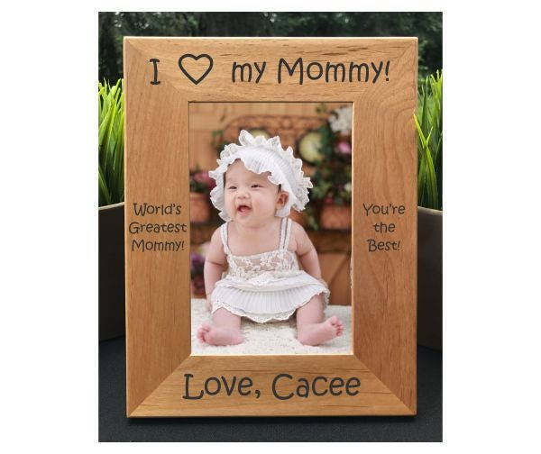 I Love My Mommy Personalized Engraved Photo Frame Mom