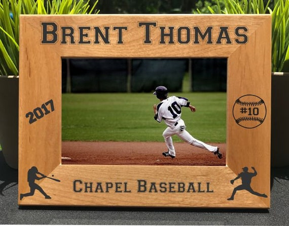 Personalized Sports Softball Picture Frames Custom Engraved School Photos Gifts