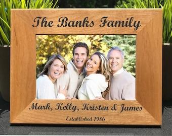 Nom de famille / / Laser personnalisé gravé cadre Photo / / cadre photo / / cadeau