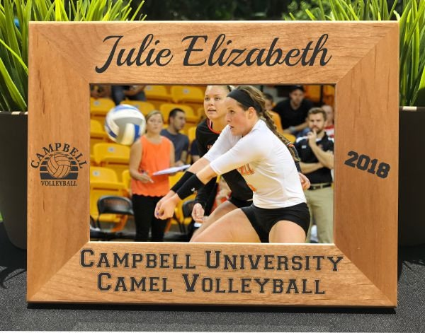 Volleyball Personalized Engraved Photo Frame Picture Frame Gift