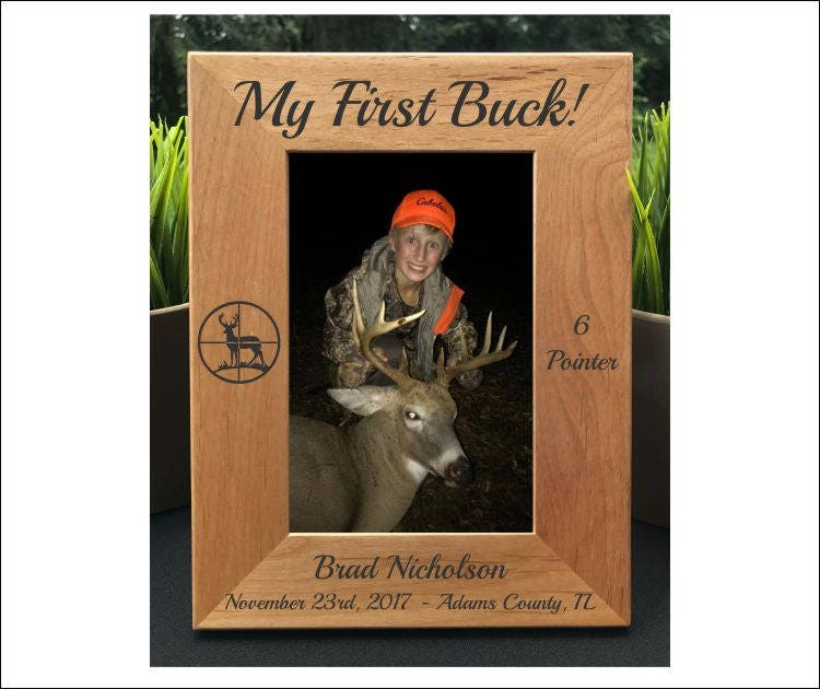 Deer Hunting First Buck Photo Frame Picture Frame Gift