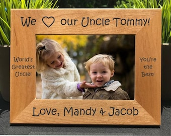 I Love my Uncle // Personalized Engraved Photo Frame // Picture Frame // Amo a mi tio // We Love Our Uncle // Gift