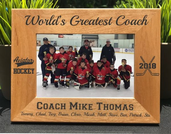 Personalized Sports Hockey Picture Frames Custom Engraved School Photos Gifts