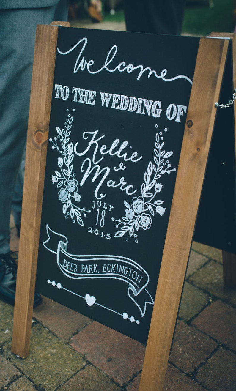 Hochzeitsschild Tafel