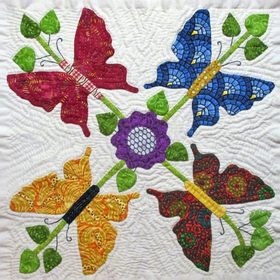 Butterfly Quilt Block Pattern For Nature's Bounty Quilt Etsy New Butterfly Quilt Pattern