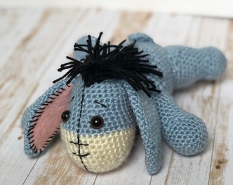 Baby Knitting Patterns Crochet Amigurumi Eeyore The Donkey Free ... | 270x340