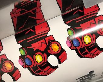 "Hellboy Infinity Gauntlet ""Hell Gauntlet"" by Tomde Studio - Limited Original Design - Based on Mike Mignola and Marvel Studios Characters"