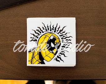 Wu-Man Sticker - Spiderman x Wu Tang Clan by Tomde - Original Artwork