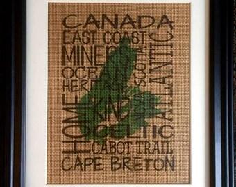Cape Breton Burlap Print - Subway Art Print