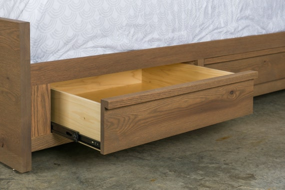 Urban Loft Bedroom Furniture / Bed W/ Storage Rails