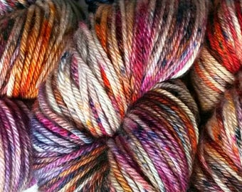 GOOD VIBES, Hand Dyed Worsted Yarn, Superwash Merino, Speckled Yarn, Variegated Yarn, Indie Dyed Yarn, Hand Dyed Yarn
