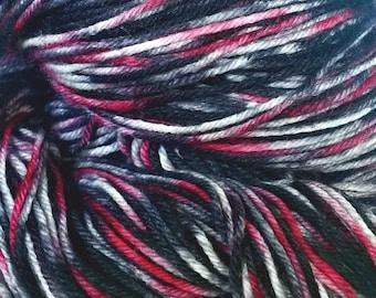 ROSE BREASTED GROSBEAK, Indie Dyed Sock Yarn, Merino Sock Yarn, Indie Dyed Yarn, Hand dyed Yarn, Variegated yarn