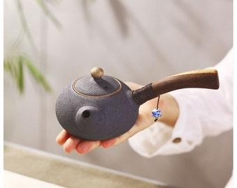 Handmade Japanese Coarse Pottery Porcelain Teapot,Chinese Style Ceramic Teaware