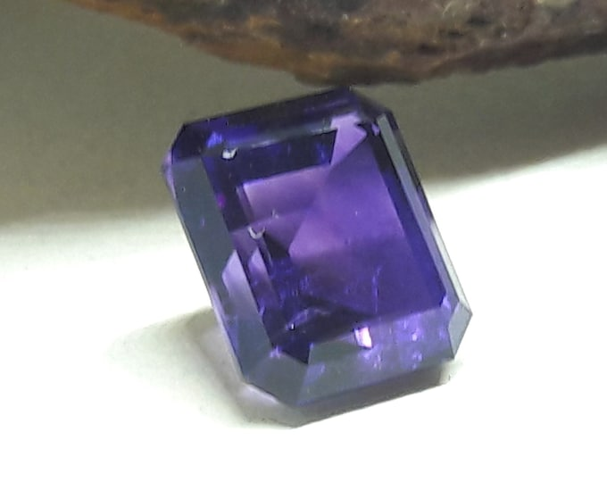 Natural/Untreated Four Peaks Amethyst Arizona Amethyst Emerald Cut 5.13 cts, 11x9mm for Gemstone Collecting, jewelry making