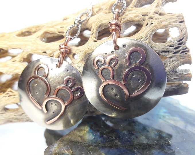 I love Cacti Arizona Prickly Pear Cacti Earrings in sterling silver and copper