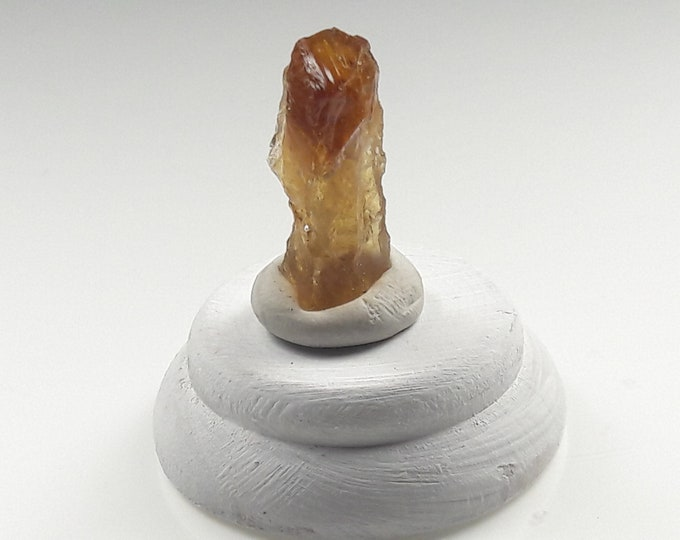 Zambian Citrine Mini Mineral Display for Rockhounding, Mineral Collecting, Home Decor, Curio Cabinets or Healing
