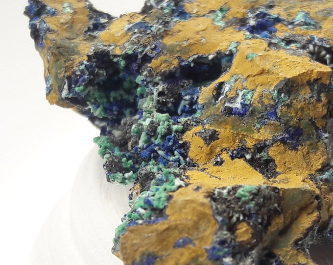 Mini Arizona Azurite Specimen for mineral collecting, healing,curio cabinets, rockhounding, gifts