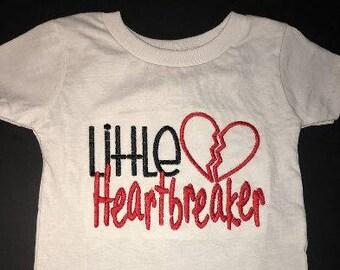 Little Heartbreaker Embroidered Onesie or Tshirt Keepsake Personalized