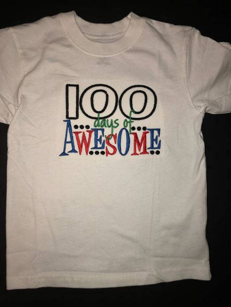 5e23ea851c6 100 Days of Awesome Tshirt Keepsake Personalized 100 days of school