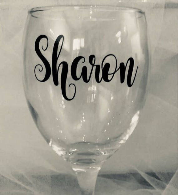 2 x Personalised Wedding Role Vinyl Stickers Bridal Bride Wine Glass Decal Box