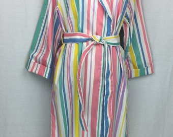 b99a41c7ea Shawl collared Dressing gown bathrobe in 100% cotton sateen in Fawn