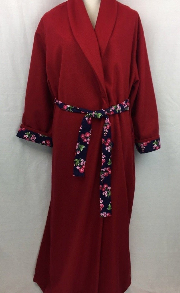 Ladies Wool Dressing Gown Fully Lined In 100 Cotton Size X Large