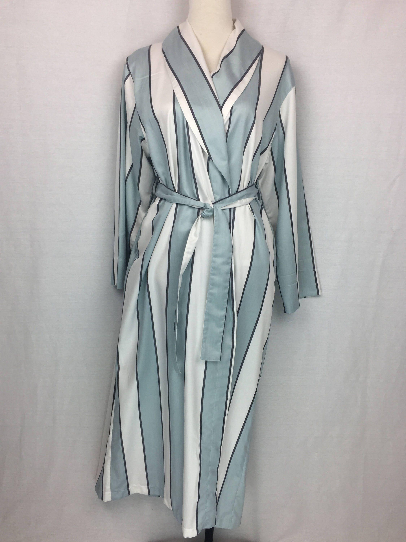 41fa10ca21 Shawl collared Dressing gown bathrobe in 100% cotton Sage