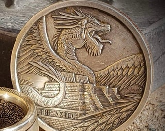 """RARE 1 oz Silver Coin, The Egyptian Dragon """"Last of the World of Dragons Series"""", 1 Troy Ounce, .999 Pure Silver Coin."""