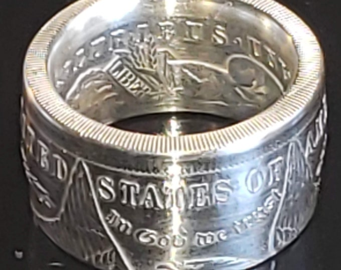 """LIMITED SALE! Coin Rings Handmade 1878-1921 US Morgan Silver Dollars.  Sizes 5-25 """"Comfort Fit to your finger"""" (heavy ring, wide band, boho)"""