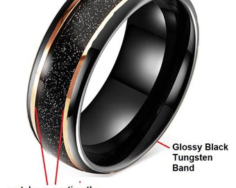 CUSTOM RING DESIGNED exclusively for Brittney Hopkins (8mm Tungsten Carbide Band as photographed size 10)